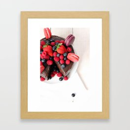 Chocolate Berry Extravaganza Framed Art Print