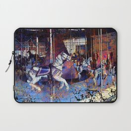 Haunted Halloween Carousel Ride Laptop Sleeve