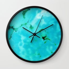 Chrysocolla Wall Clock