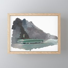 Some kind of night into your darkness Framed Mini Art Print