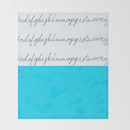 Alphabet-Turquoise  Throw Blanket