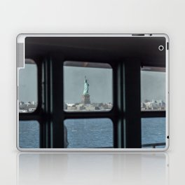 Statue of Liberty from the ferry Laptop & iPad Skin