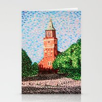 finland Stationery Cards featuring Turku Cathedral, Finland by Alan Hogan