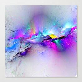 Unreal Rainbow Explosion Canvas Print