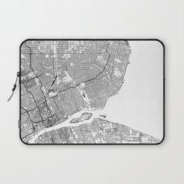 Detroit White Map Laptop Sleeve