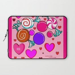 Happy Happy Hearts and Sweets Laptop Sleeve