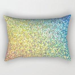 Rainbow Ombre Glitter Rectangular Pillow