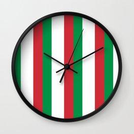 Flag of Italy 3-Italy,Italia,Italian,Latine,Roma,venezia,venice,mediterreanean,Genoa,firenze Wall Clock