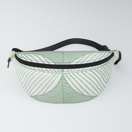 Minimal Tropical Leaves Pastel Green Fanny Pack