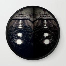 Darker Still - Fountain in Midnight and Black Wall Clock