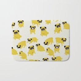 Good Vibes With Nasty The Pug Bath Mat