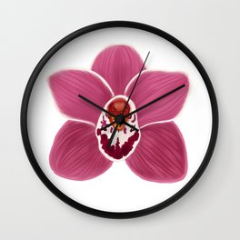 Lovely Little Orchid Wall Clock