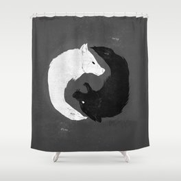 Feed the Wolves Shower Curtain