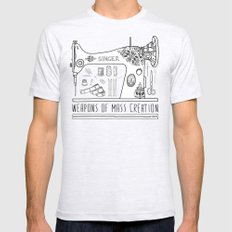Weapons Of Mass Creation - Sewing Ash Grey MEDIUM Mens Fitted Tee