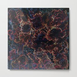Black Space and Nebula  #space #nebula Metal Print