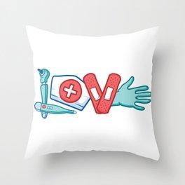 NURSE LOVE Throw Pillow