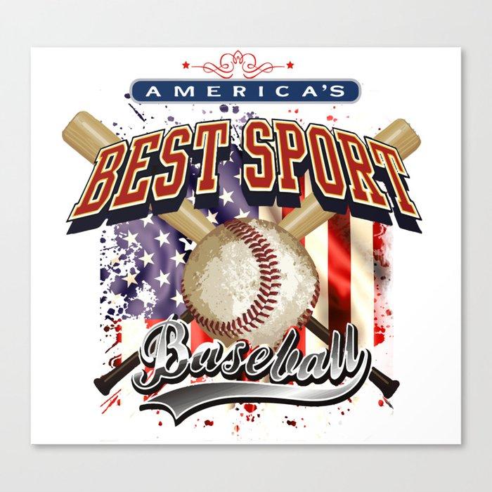 baseball American Canvas Print
