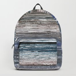 Black Coral abstract watercolor Backpack