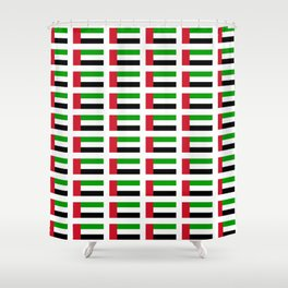flag of UAE -united arab Emirates,Abu dhabi, dubai,emirati,الإمارات Shower Curtain