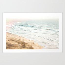 California, Los Angeles, beach, seaside, ocean, surf Art Print