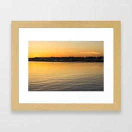 Chincoteague Bay at Sunset Framed Art Print