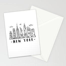 New York City United States Skyline Architecture Cityscape Stationery Cards