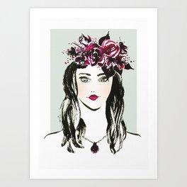 Flowers in the hair Art Print