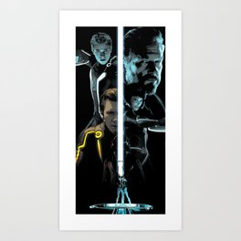 Tron Legacy Tall Alternative Movie Poster Art Print