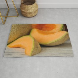 Fresh ripe delicious cantaloupes Rug