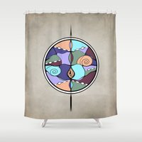 compass Shower Curtains featuring Compass by DebS Digs Photo Art