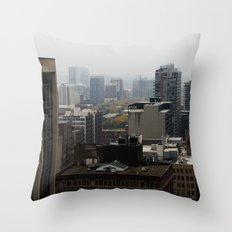 City Buildings Chicago Original Color Photo Throw Pillow