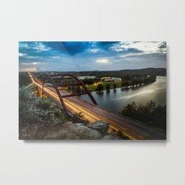 Pennybacker Bridge 360 Metal Print