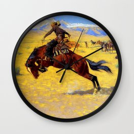 """Frederic Remington Western Art """"A Cold Morning"""" Wall Clock"""