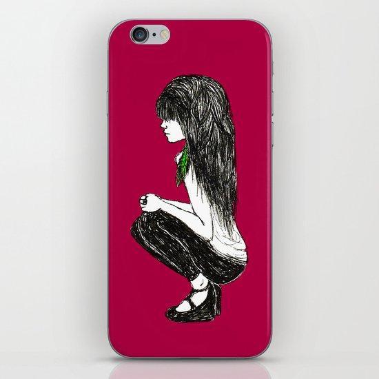 Feather Girl iPhone & iPod Skin