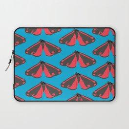 Moth Pop Blue Laptop Sleeve