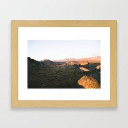 First Light on Rams Head Framed Art Print