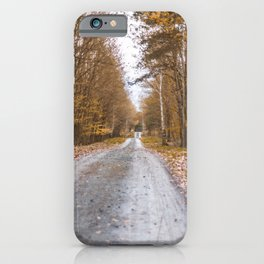 Autumn walk in the forest iPhone Case
