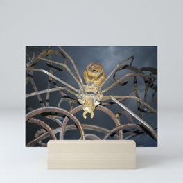 SPIDER ON FLOWER DETAIL MARTIENS BEKKER METAL SCULPTURE Mini Art Print