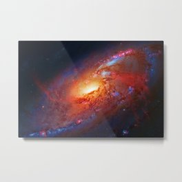 Spiral Galaxy in the Hunting Dogs constellation Metal Print
