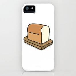 Plain white loaf of bread iPhone Case