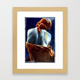Silent waiting Framed Art Print