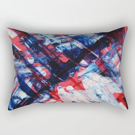 Blue Wings Rectangular Pillow