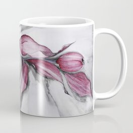 """Dancing"" in red, abstract floral ink watercolor drawing Coffee Mug"