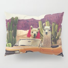 Llamas on the road 2 Pillow Sham