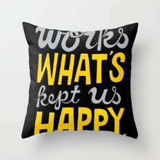 Happy Work Throw Pillow