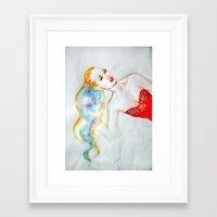 iggy azalea Framed Art Prints featuring Iggy Azalea  by eleidiel