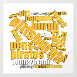 Pittsburgh Pride Typography Gifts Art Print