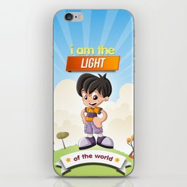 I am the Light of the world. iPhone Skin