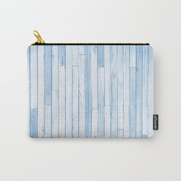 Blue Reclaimed Wood Pattern Carry-All Pouch