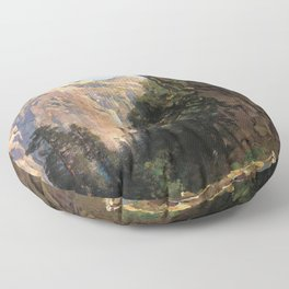 North Dome Yosemite Valley 1870 By Thomas Hill | Reproduction copy Floor Pillow